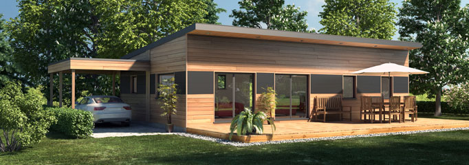 Super Maison ossature bois contemporaine T5 - 90 m2 TP73