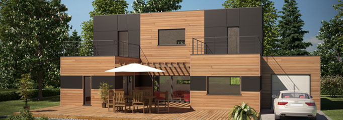 maison en ossature bois contemporaine construteur nantes et grand ouest. Black Bedroom Furniture Sets. Home Design Ideas