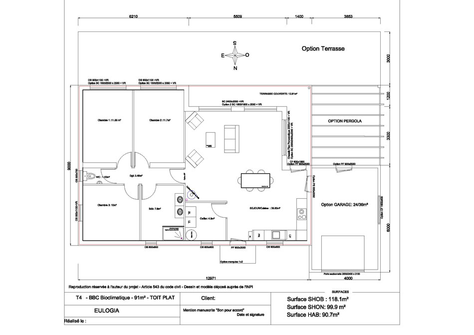 plan appartement t4 80m2