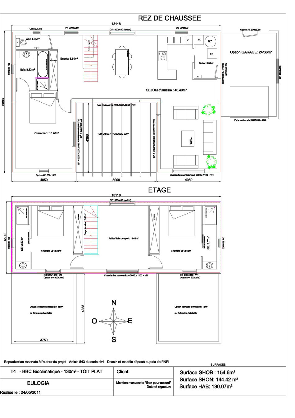Designs et plans maison bois plein pied joy studio for Plan maison contemporaine plain pied architecte